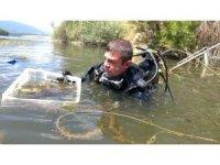Balık adamlar su altını, gönüllüler kıyıları temizledi