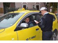 Balıkesir polisinden ticari taksilere denetimi