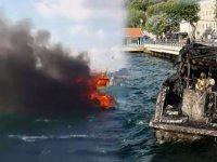 Boğaz'da lüks yat alev alev yandı! Denize atlayarak canlarını kurtardılar