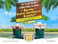 Sanko Park'tan 750 liralık alışverişe kamp sandalyesi hediye
