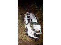 Köprüden dereye uçan aracın sürücüsü hayatını kaybetti