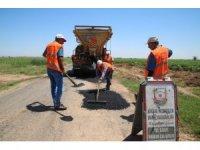 Şanlıurfa kırsalında yol onarım çalışmaları sürüyor