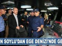 Süleyman Soylu, Ege Denizi'nde gece seyrine çıktı