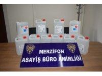 Amasya'da kaçak içki operasyonu: 1 tutuklama