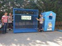Gebze'de geri dönüşüm kafesleri yenilendi