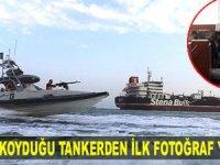 İran'ın el koyduğu İngiliz tankerinin içinden ilk fotoğraf yayınlandı