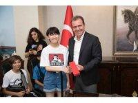 Başkan Seçer, Tatar ve Japon öğrencilerle buluştu