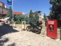 Safranbolu tarihi çarşıya yangın dolapları yerleştirildi
