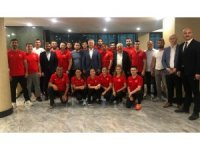 Başkan Babaoğlu'ndan sporculara moral ziyareti