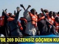 Akdeniz'de 269 düzensiz göçmen kurtarıldı