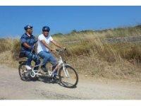 Ayvalık'ta engelliler 1. Engelsiz Bisiklet Festivali'ne hazırlanıyor