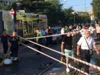 İstanbul'da su tankeri tramvaya çarptı: Seferler aksadı
