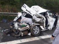 Sakarya'da TEM otoyolunda 6 araç birbirine girdi:6 yaralı