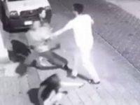Yabancı uyruklu iki kişi, kız çocuğunu kaçımak istedi! Vatandaş yalın ayak kovaladı, yakaladı...