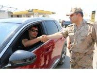 Jandarma ekipleri Mardin'in huzur ve güvenliği için çalışıyor