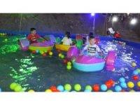 Burhaniye'de panayırda çocuklar eğlenceye doydu
