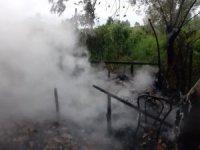 Çarşamba'da baraka yangını