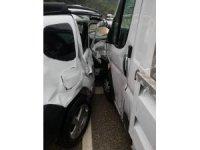 Yenice'de trafik kazası :  1 yaralı