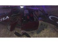 Şarampole devrilen otomobil hurdaya döndü: 5 yaralı