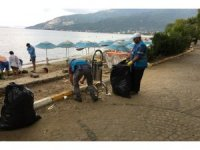 Deniz kıyıları ve yakın alanlar temizlendi