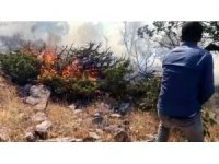 Örtü yangınında 1 hektarlık alan kül oldu