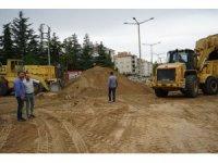 Nevşehir Belediyesi ekipleri Mustafa Parmaksız caddesinde çalışmalarını sürdürüyor
