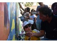 Bedri Baykam çocuklarla Kazdağları'nın resmini yaptı
