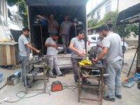 Hisarcık'ta konutlarda doğalgaz dönüşüm çalışmaları hızlandı
