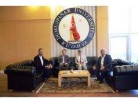 Hisarcık Kaymakamı ve Belediye Başkanı'ndan Rektör Uysal'a ziyaret