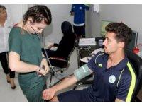 Sivas Belediyesporlu futbolcular sağlık kontrolünden geçti