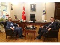 Vali Yavuz'dan Rektör Akdoğan'a ziyaret