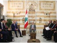 Çavuşoğlu, Lübnan Cumhurbaşkanı Aoun ile bir araya geldi