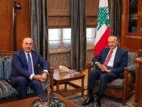 Bakan Çavuşoğlı, Lübnan Meclis Başkanı Berri ile görüştü