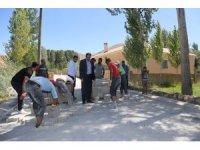 Gürpınar'da kilitli parke taşı çalışması