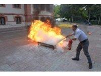 Bilecik Belediyesi'nden yangın ve kurtarma tatbikatı