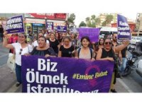Mersin'de Emine Bulut cinayeti protestosu