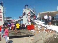 Adalar 1' isimli feribot iskeleye çarptı: 7 yaralı...
