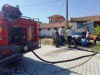 Hisarcık'ta park halindeki otomobilde yangın