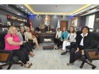 Kadın girişimcilerden Zekiye Tekin'e ziyaret