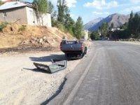 Şemdinli'de trafik kazası 1 kişi yaralandı