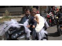 Bu da gelin motosikleti