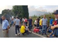 Aydın'da servis otobüsü tarlaya uçtu: 20'si ağır, 47 yaralı