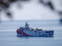 MTA Oruç Reis Gemisi, Antalya açıklarına demir attı