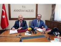 Amasya İl Özel İdaresi ile PTT'den kaynak yönetiminde Türkiye'de ilk olacak proje iş birliği