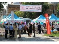 Edirne'de 'Halk sağlığı sokağı' açıldı