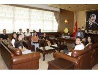 Stajyer avukatlar Baro Başkanı Yeşilboğaz'ı ziyaret etti