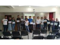 Aslanapa'da görev yapan 17 öğretmen sertifika aldı