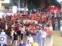 Mardin'de teröre tepki ve Diyarbakır annelerine destek yürüyüşü...