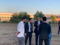 Yeni Malatyaspor yönetimi Futbol Köyü projesindeki çalışmaları yerinde inceledi