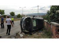 Samsun'da otomobil evin duvarına çarptı: 1 yaralı